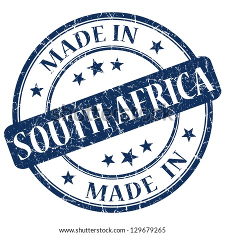 made in South Africa stamp - stock photo