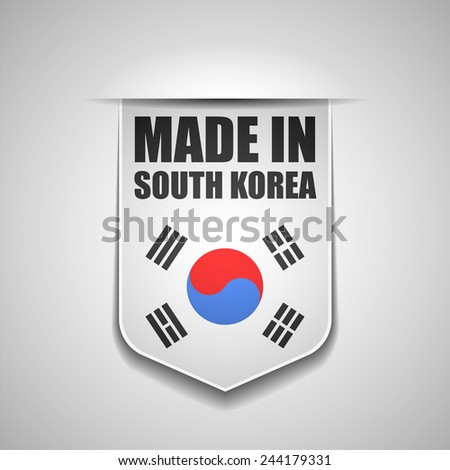 made in South Korea - stock photo