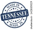 made in tennessee stamp - stock vector
