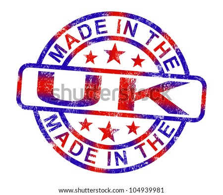 Made In The Uk Stamp Showing Product Or Produce From Britain