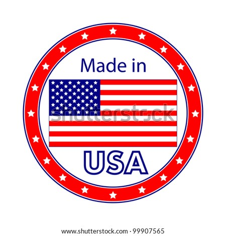 Made in USA Illustration - stock photo
