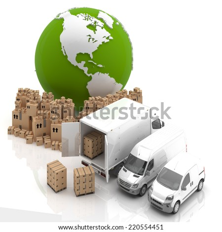 Made in USA. Transportation - stock photo