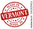 made in vermont stamp - stock vector