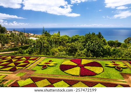 Madeira island Botanical Garden Monte, Funchal, Portugal - stock photo