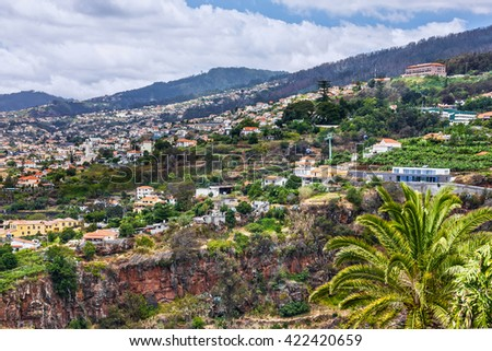 Madeira island, Portugal. Panoramic view on Funchal