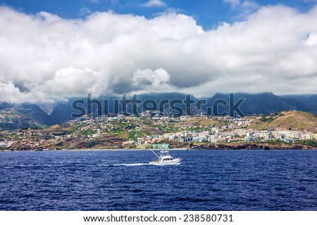 Madeira island, Portugal. Seafront of Funchal. - stock photo