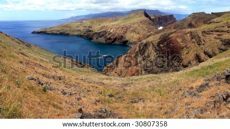 Madeira - Ponta do Sao Lourenco scenery, Portugal Island - stock photo