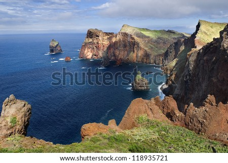 Madeira, Ponta Sao Louren�§o view - stock photo
