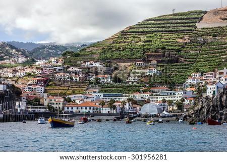 Madeira, Portugal. Fishing village Camara de Lobos.  - stock photo