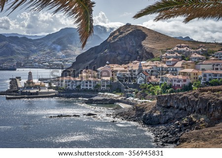 MADEIRA, PORTUGAL - JULY 17: Madeira island coast at Sao Lourenco. MADEIRA, PORTUGAL on JULY 23. - stock photo