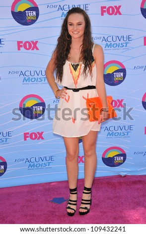 Madeleine Carroll at the 2012 Teen Choice Awards at the Gibson Amphitheatre, Universal City. July 23, 2012  Los Angeles, CA Picture: Paul Smith / Featureflash