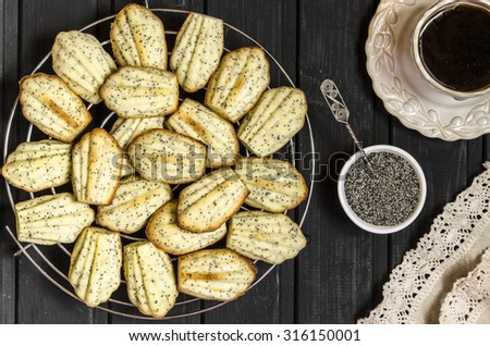 Madeleine cookies with lemon and poppy seeds from Gordon Ramsay