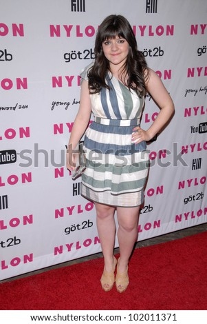 Madeleine Martin  at the NYLON Magazine's May Issue Young Hollywood Launch Party, Roosevelt Hotel, Hollywood, CA. 05-12-10