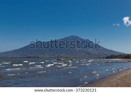 maderas volcano view from Ometepe Island, Nicaragua - stock photo