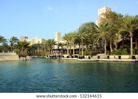 Madinat Jumeirah in Dubai Unated Arab Emirates - stock photo