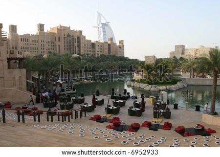 Madinat Jumeirah Resort - stock photo