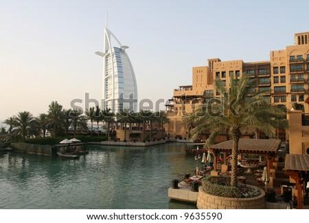 Madinat Jumeirah Resort in Dubai - stock photo