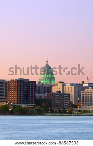 Madison, Capitol city of Wisconsin. - stock photo