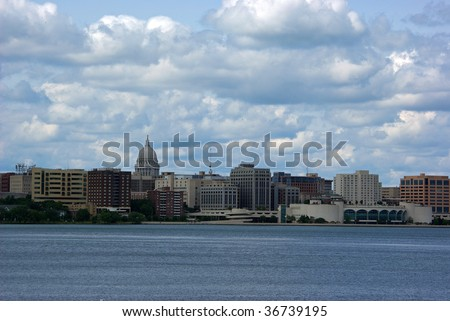 Madison Skyline - stock photo