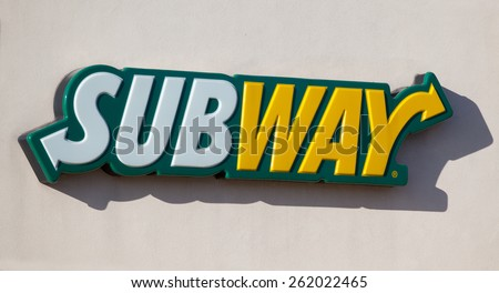 MADISON, WI - MARCH 17, 2015: Subway Restauraut exterior. Subway is an American fast food restaurant franchise that sells submarine sandwiches and salads. - stock photo