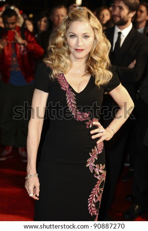 "Madonna arrives for the premiere of ""W.E."", as part of the London Film Festival 2011, at the Vue West End, London. 23/10/2011 Picture by: Steve Vas / Featureflash - stock photo"