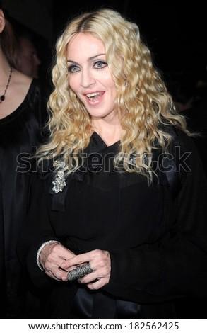 Madonna at Premiere of FILTH AND WISDOM, Landmark Sunshine Cinema, New York, NY, October 13, 2008 - stock photo