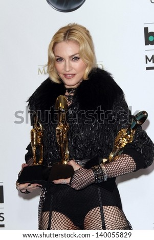 Madonna at the 2013 Billboard Music Awards Press Room, MGM Grand, Las Vegas, NV 05-19-13 - stock photo