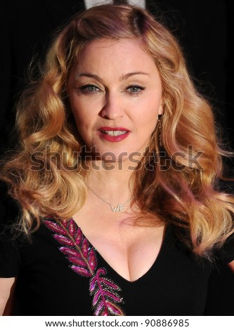 Madonna attends The BFI London Film Festival: W.E. - Premiere  at Empire Leicester Square, London. 23/10/2011  Picture by: Gerry Copper / Featureflash - stock photo