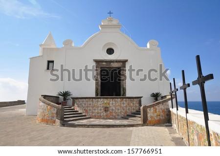 Madonna del Soccorso church in Forio,Ischia - stock photo