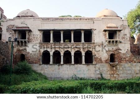 Madrasa at Hauz Khas Complex, New Delhi. - stock photo