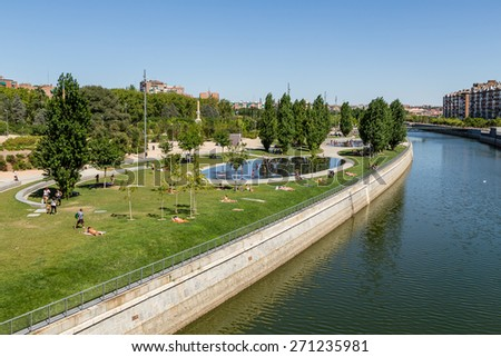 Madrid Gardens on the banks of the Manzanares River