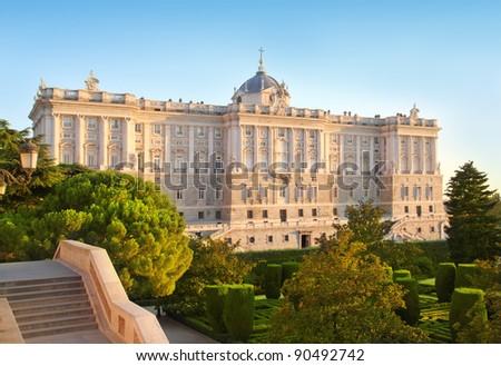 Madrid Palacio de Oriente monument Spain architecture - stock photo