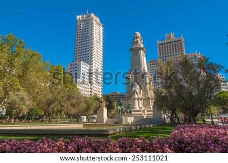 Madrid Plaza de Espana - stock photo