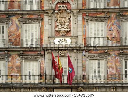 Madrid. Plaza Mayor, - stock photo