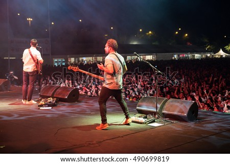 MADRID - SEP 12: Supersubmarina (band) in concert at Dcode Festival on September 12, 2015 in Madrid, Spain.