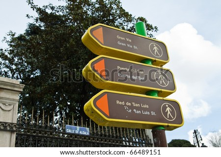Madrid Signs - stock photo