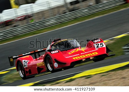 MADRID, SPAIN - APR 1 : British driver Michael Lyons races in a Gebhardt C91 during the Jarama Classic, on Apr 1, 2016 in Madrid, Spain.