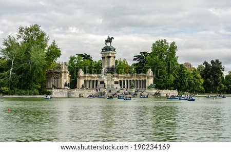 MADRID, SPAIN - APRIL 27: The Retiro is a park of 118 acres (180,000 m�² 1). It is one of the most significant places in the Spanish capital. April 27, 2014 in Madrid, Spain