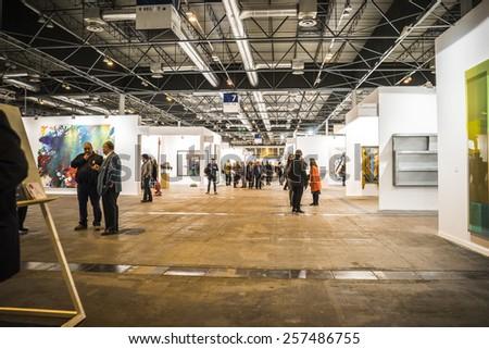 MADRID, SPAIN - 25 FEBRUARY 2015. ARCO, the International Contemporary Art Fair in Madrid, Spain - stock photo