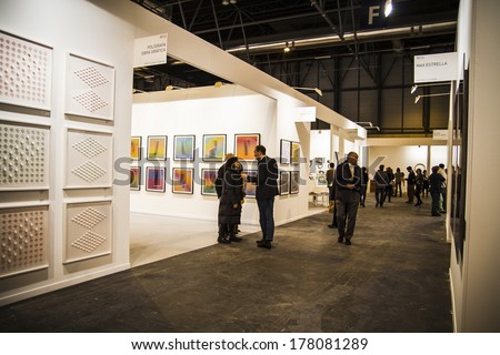 MADRID, SPAIN - 19 FEBRUARY 2014. ARCOmadrid contemporary art fair  begins its 33rd edition. Madrid, Spain - stock photo