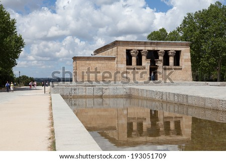 MADRID, SPAIN - MAY 28, 2013: Photo of Egyptian Temple of Debod.