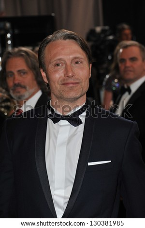 Mads Mikkelsen at the 85th Academy Awards at the Dolby Theatre, Hollywood. February 24, 2013  Los Angeles, CA Picture: Paul Smith