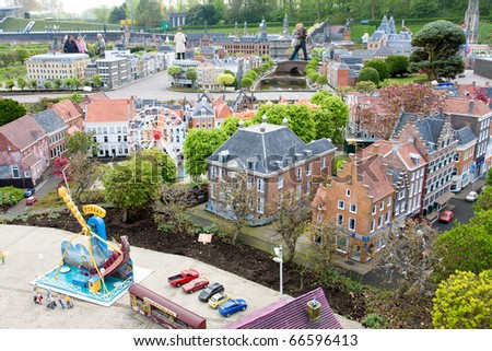 Madurodam - city of miniature at the Hague in Netherlands - stock photo