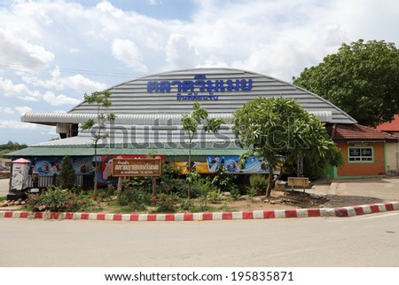 Mae Sod, Thailand - MAY 28, 2014: Rim Moei Market  is one of the important market in Mae Sod, Thailand on 28 May 2014, Rim Moei Market is the place where tourist can purchase myanmar goods in thailand - stock photo