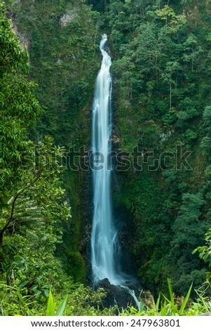 Mae Surin waterfall at Mae Hong Son, Thailand - stock photo