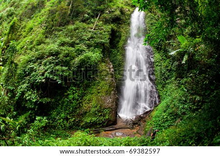 Mae Tho Waterfall, Chiang Rai, Thailand. - stock photo