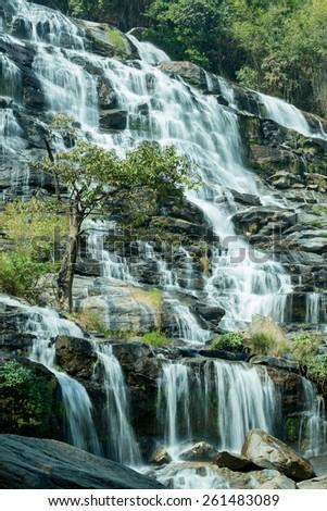 Mae Ya Water fall, Chiang Mai, Thailand - stock photo