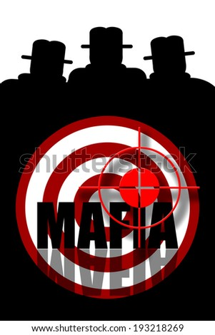 Mafia gangsters background - stock photo