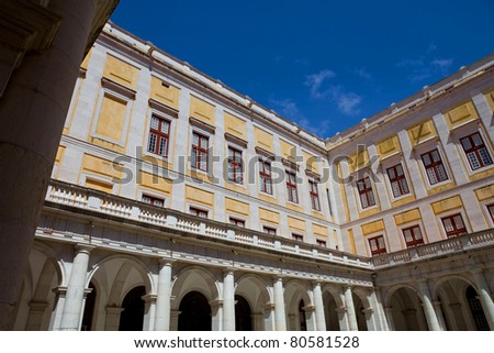Mafra National Palace, cathedral and convent, in Portugal