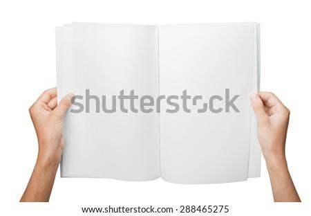 Magazine, Blank, Book. - stock photo